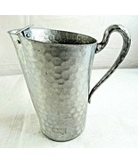 "Everlast Forged Hammered Aluminum Water Pitcher 5061 Ice Guard Vintage 8"" - £26.34 GBP"