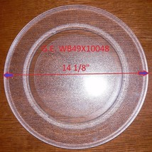 "14 1/8 "" GE  GLASS TURNTABLE PLATE / TRAY WB49X10048 Used Clean 9 1/4 Ring - $62.36"