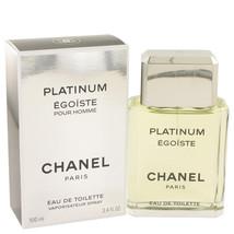 Chanel Egoiste Platinum 3.4 Oz Eau De Toilette Spray for men image 2