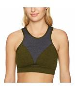 NWT Onzie Yoga High Neck Bra in Moss Combo - Green / Gray - sz S / M #3640 - $23.76