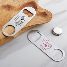 36-Personalized Silver Oblong Bottle Openers - Wedding  - $90.99