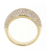 Solid 14K Yellow Gold 1.81CT Real Natural Cluster Diamond Party Wear Thi... - $6,831.00