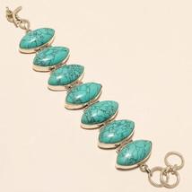 Natural Afghan Blue Turquoise Bracelet 925 Sterling Silver Vintage Jewel... - $56.96