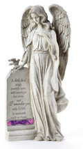 "16"" Memorial Standing Angel Design Garden Stone with Sentiment - $118.79"