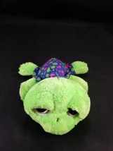 Russ Berrie Splash Turtle Lime Green Blue Plush Stuffed Reptile Pink Big... - $11.87