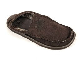 Sanuk Mens Kyoto Felt Brown Casual Sidewalk Surfer Slip On Shoes Loafer SMF10258 - $39.99