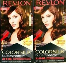 (2) Revlon Colorsilk Butter Cream 535 Medium Golden Mahogany Brown Hair Dye - $22.76
