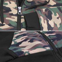 MX USA Men's Army Camo Zip Up Sherpa Hoodie Fleece Hunting Sweater Jacket - L image 3