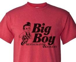 Big Boy Diner T-shirt retro 1980's distressed logo heather red 50/50 graphic tee image 1