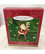 2001 Rocking Reindeer  Hallmark Christmas Tree Ornament MIB Price Tag H8 - $12.38