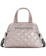 Calvin Klein Cire Nylon Quilted Satchel  Silver/Black - $84.14