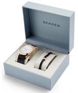 Skagen Men's Jorn Black Leather Band Watch and Bracelet Set - SKW1102 - £107.28 GBP
