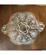 First Love Duncan Miller Depression Glass Divided Bowl & 7 in Underplate - $31.99