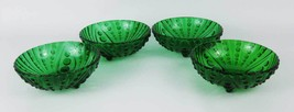 Anchor Hocking Emerald Forest Green Burble Bubble Glass Fruit Bowls(4) - $12.00