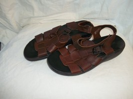 Aerosoles Leather Strappy Brown Sandals Shoes Size 10 - $29.69