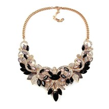 Best lady New Spring Colorful Crystal Women Brand Maxi Statement Necklaces & Pen - $17.31