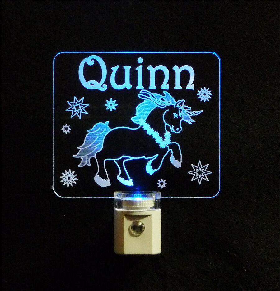 """Personalized Unicorn Night Light - LED - Girls Lamp 3/8"""" Acrylc image 2"""