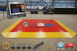Pancake Floor Scale 10'x10' Pallet Scale 36,000 lb Ramps Forklift Scale - $10,995.00