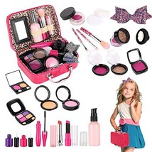 Tuptoel Pretend Makeup for Girls, Kids Make Up Kit for Girl Play Make Up with Co