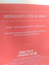 Opalhouse Stitched Medallion Quilt - Gray - Size:Twin - new with tags - STORE image 5