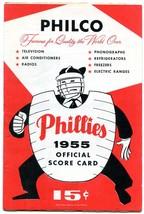 Philadelphia Phillies v Cincinnati Baseball Game Program MLB scored-- 1955 - $31.04