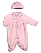 "Preemie Baby Girls Pink ""Little Miracle"" Coverall with Matching Hat - $24.00"