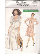 Very Easy Vogue Pattern 7496 Misses/Misses Petite Top Skirt Szs 6 8 10 1... - $5.94