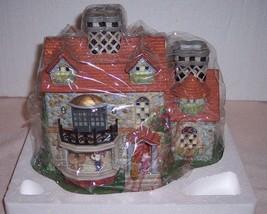 "Partylite ""THE BRISTOL HOUSE"" candle holder village building #P7322 - NIB - $39.99"