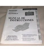 Panasonic FAX KX FP250LA Spanish Language Operating Instructions Manual - $14.09
