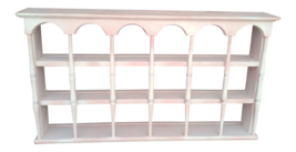 Vintage Shabby Chic Painted Wall Shelf, Tea Cup and Saucer Display Shelf - $145.00