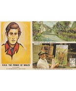 Captain John Taylor With Prince Of Wales Charles Painting Hghland 1970s Postcard - $6.49