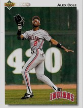 1992 Upper Deck Baseball Card, #197, Alex Cole, Cleveland Indians - $0.99