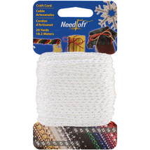 Cottage Mills Novelty Craft Cord 20yd-Iridescent White - $6.57