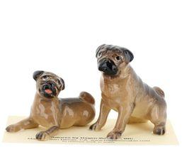 Hagen Renaker Dogs Pug Mama and Baby Tan Ceramic Figurine image 3