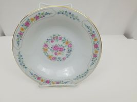 Liling Fine China Cereal Soup Bowls Set of 4 Yung Shen White Roses Keepsake 8.25 image 9