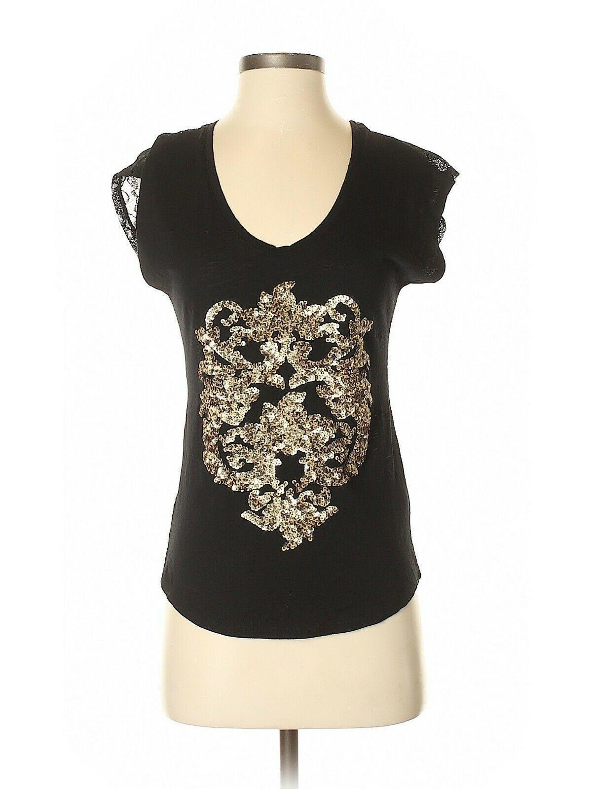 Express Women's Crop Top Black Lace Keyhole Back Sleeveless Size Medium