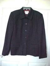 Talbots Petite Jacket 100% Wool Navy Sz 10 P Career Dressy Fully Lined  ... - $21.84