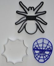 Spiderman Spider-Man Spider Marvel Set Of 3 Cookie Cutters 3D Printed US... - $5.99