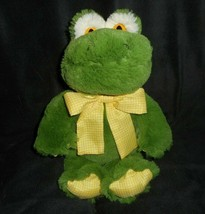 "12"" CIRCO TARGET BABY GREEN FROG YELLOW W/ BOW STUFFED ANIMAL PLUSH TOY ... - $27.70"
