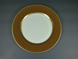 "Set Of 5 - Fitz & Floyd Renaissance Cognac & Gold 10-3/8"" Dinner Plates - Exc - $49.00"