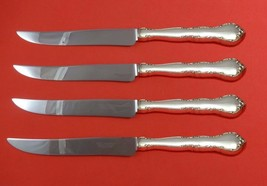 Mignonette by Lunt Sterling Silver Steak Knife Set 4pc Large Texas Sized Custom - $247.10