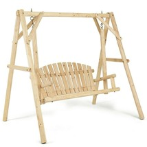 Wooden Patio Porch Swing Bench w/ A-Frame Stand  FREE SHIPPING - $205.99