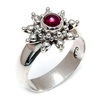 Natural Garnet 925 Sterling Silver Statement Ring Handmade silver Ring G... - $30.23