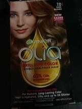 Garnier Olia Ammonia Free 60% Oils Long Lasting Hair Color 7.0 DARK BLONDE - $9.37