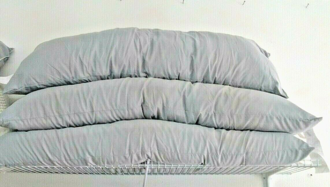 Oversized Body Pillow Gray Room Essential (whole pillow 20'' x 52'' x 8'')NEW