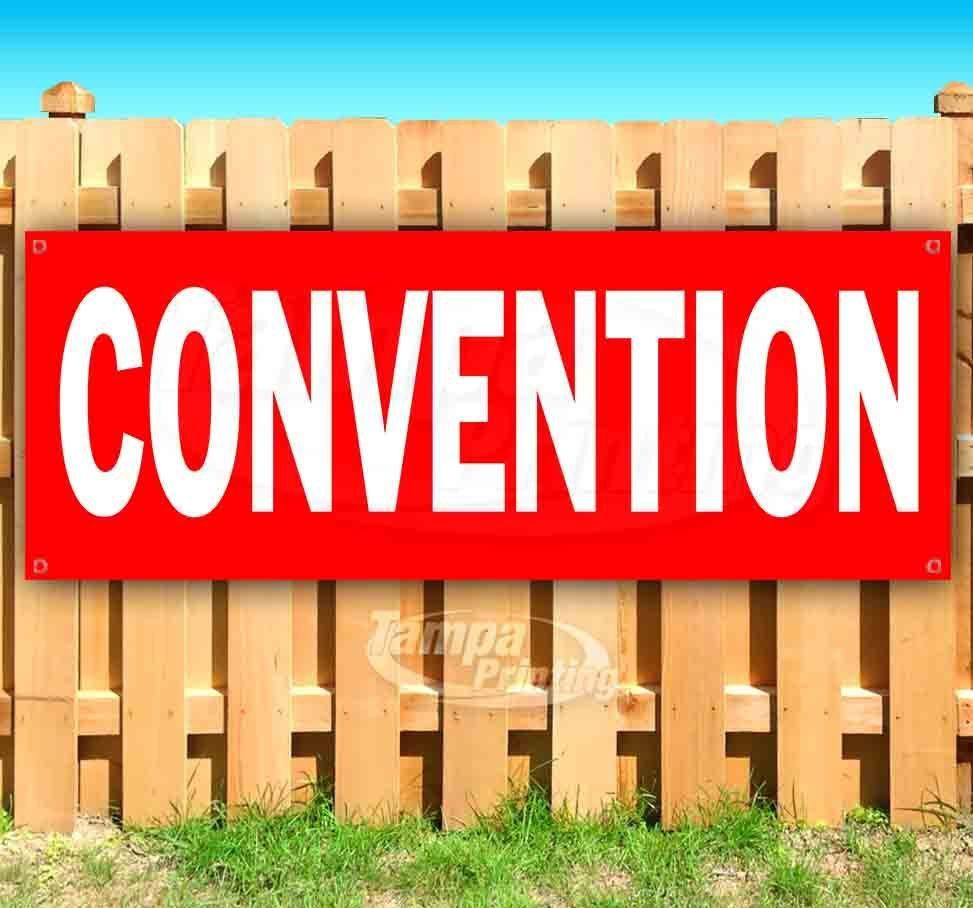 Primary image for CONVENTION RED2 Advertising Vinyl Banner Flag Sign Many Sizes DIRECTIONAL
