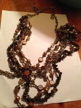 beaded multi strand necklace - $24.99