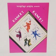 Dance Dance Postage Stamp Cross Stitch Leaflet Heritage Series 1991 Folk... - $23.99