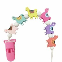 Baby Pacifier Teether Anti-Lost Clips Chain Clips Wood Sheep Beads Holders - $12.55