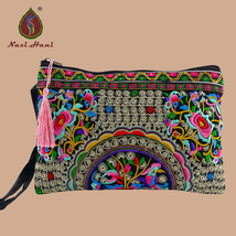National style Double sided embroidery women handbags fashion canvas lag... - $24.71